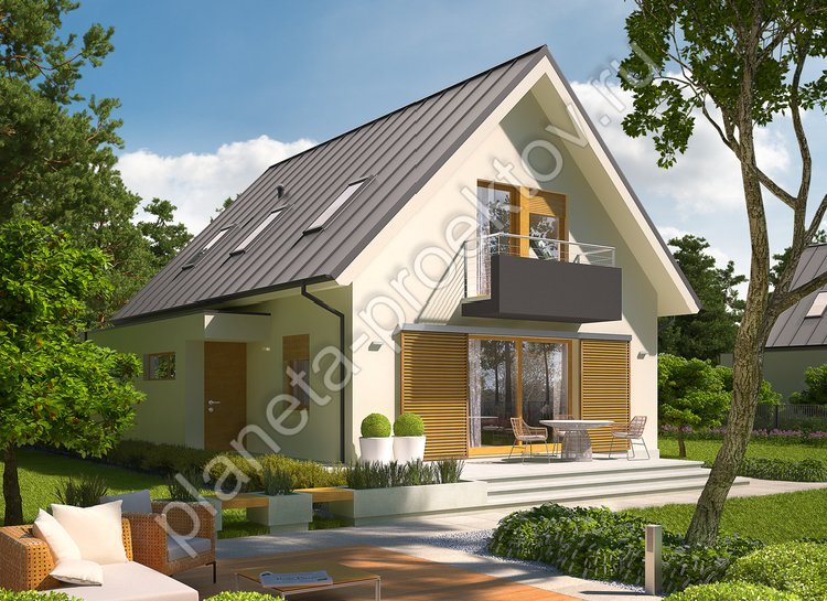 Проект дома 124-191, общей площадью - 190 квм, жилой площадью - 98 квм, двухэтажный, размеры дома - 12м х 15м