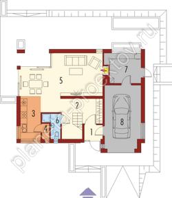 Проект кирпичного дома в современном