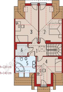 Кирпичный дом в американском стиле
