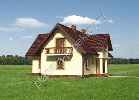 Проект дома из пеноблоков эконом-класса