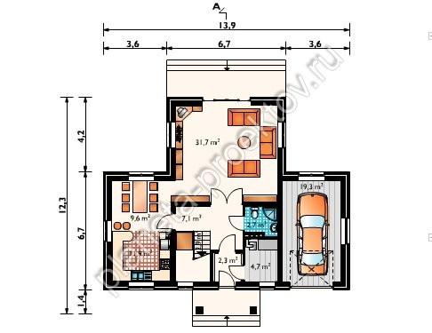 Проект дома эконом класса из