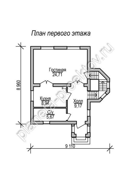 Проект кирпичного дома до 100 кв м 11 117