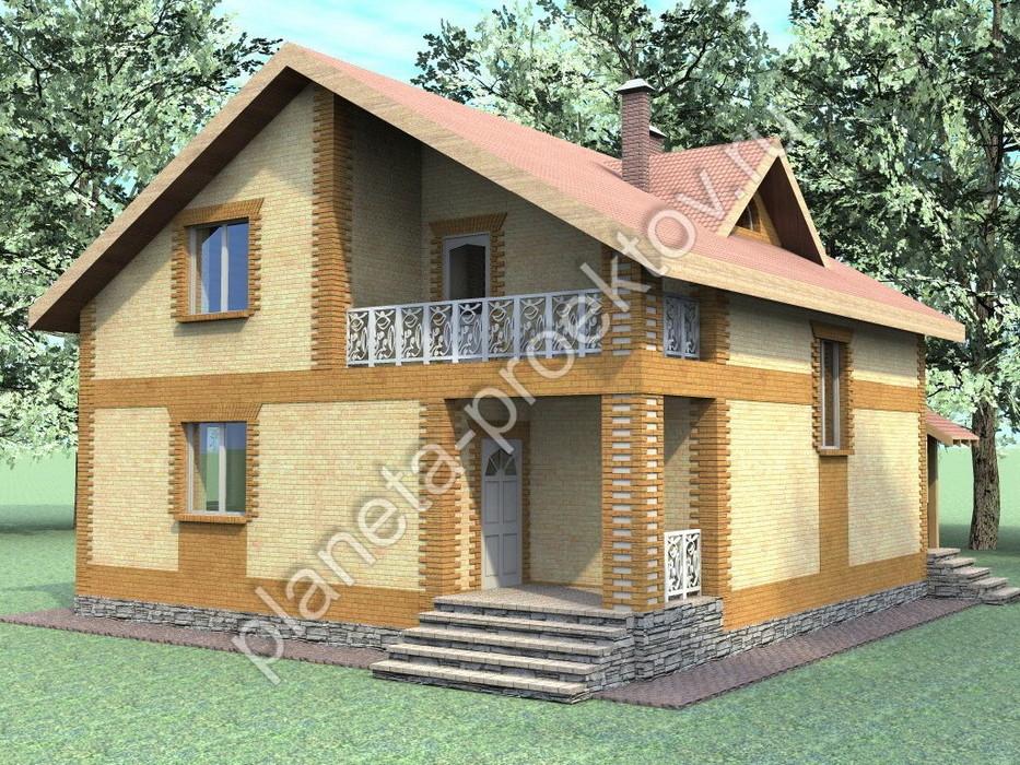 Проект дома 10х10 фото