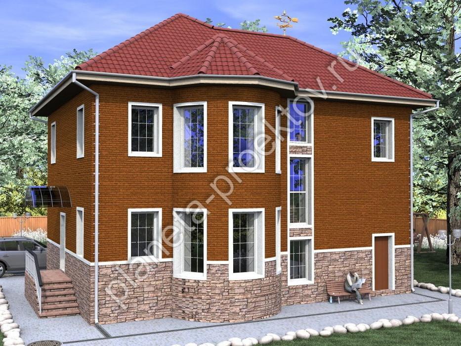 Проект кирпичного дома с эркером 11-126 - купить по цене от 15000 руб