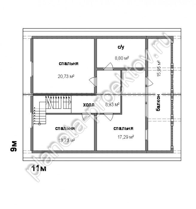 Проект дома 10-117